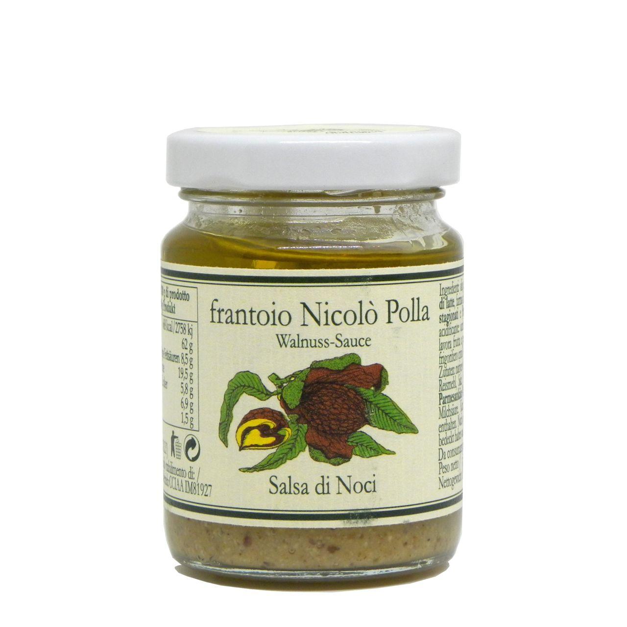 Salsa di noci in olio extravergine Frantoio Polla Nicolò – Frantoio Polla Nicolò Walnut Sauce in Extra Virgin Olive Oil – Gustorotondo – Italian food boutique