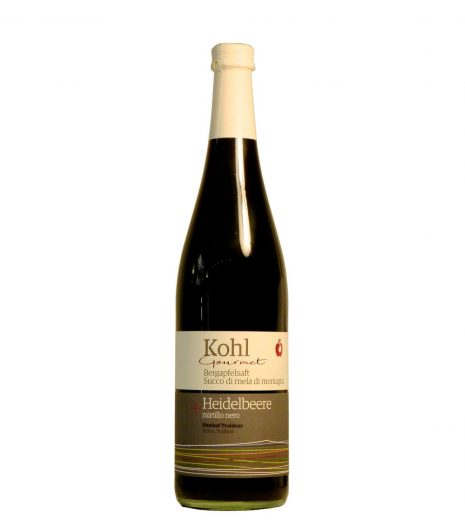 Succo di mele di montagna e mirtillo Kohl - Kohl Mountain apple juice and bilberry - Gustorotondo - Italian food boutique