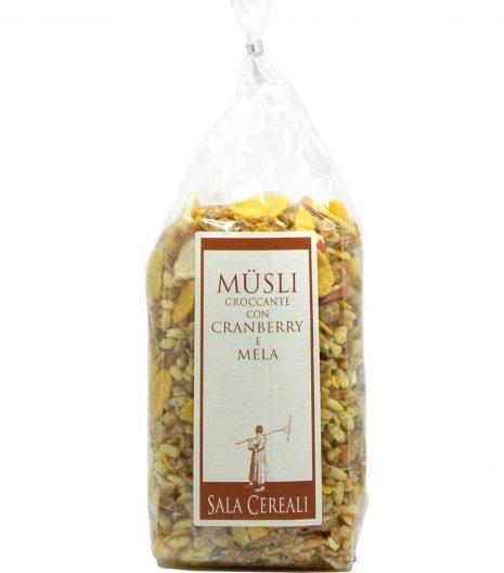Müsli croccante cranberry mela Sala Cereali - Sala Cereali Crunchy Muesly Cranberries Apples - Gustorotondo - Italian food boutique