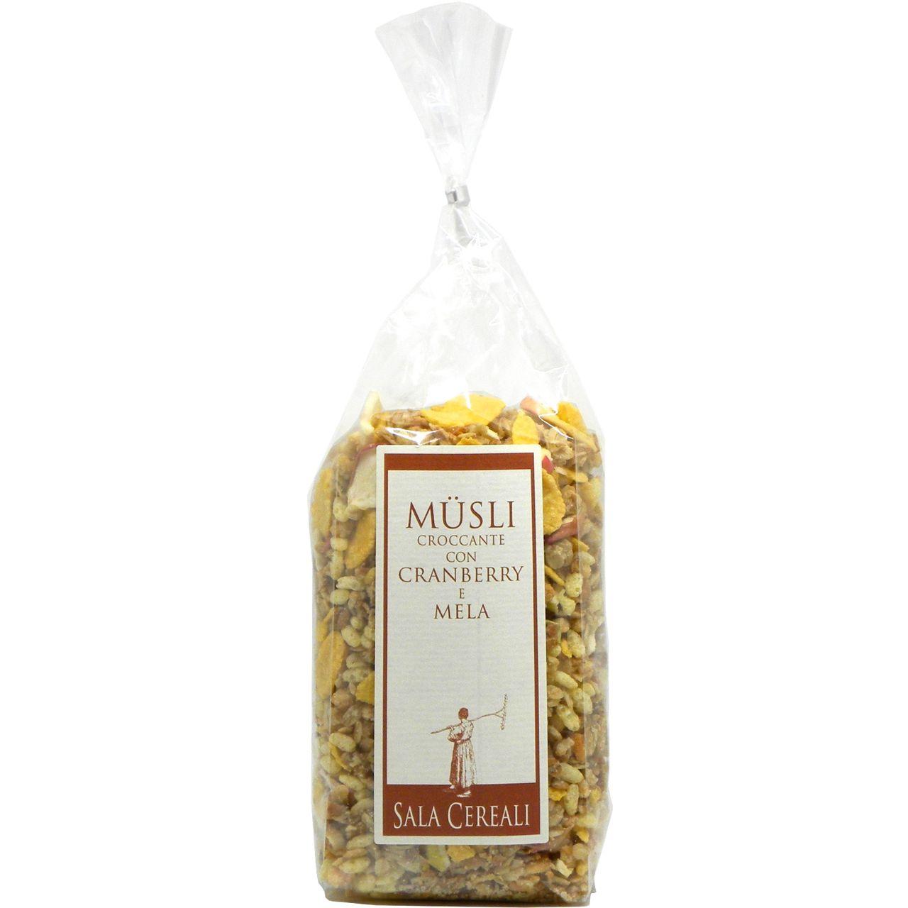 Müsli croccante cranberry mela Sala Cereali – Sala Cereali Crunchy Muesly Cranberries Apples – Gustorotondo – Italian food boutique