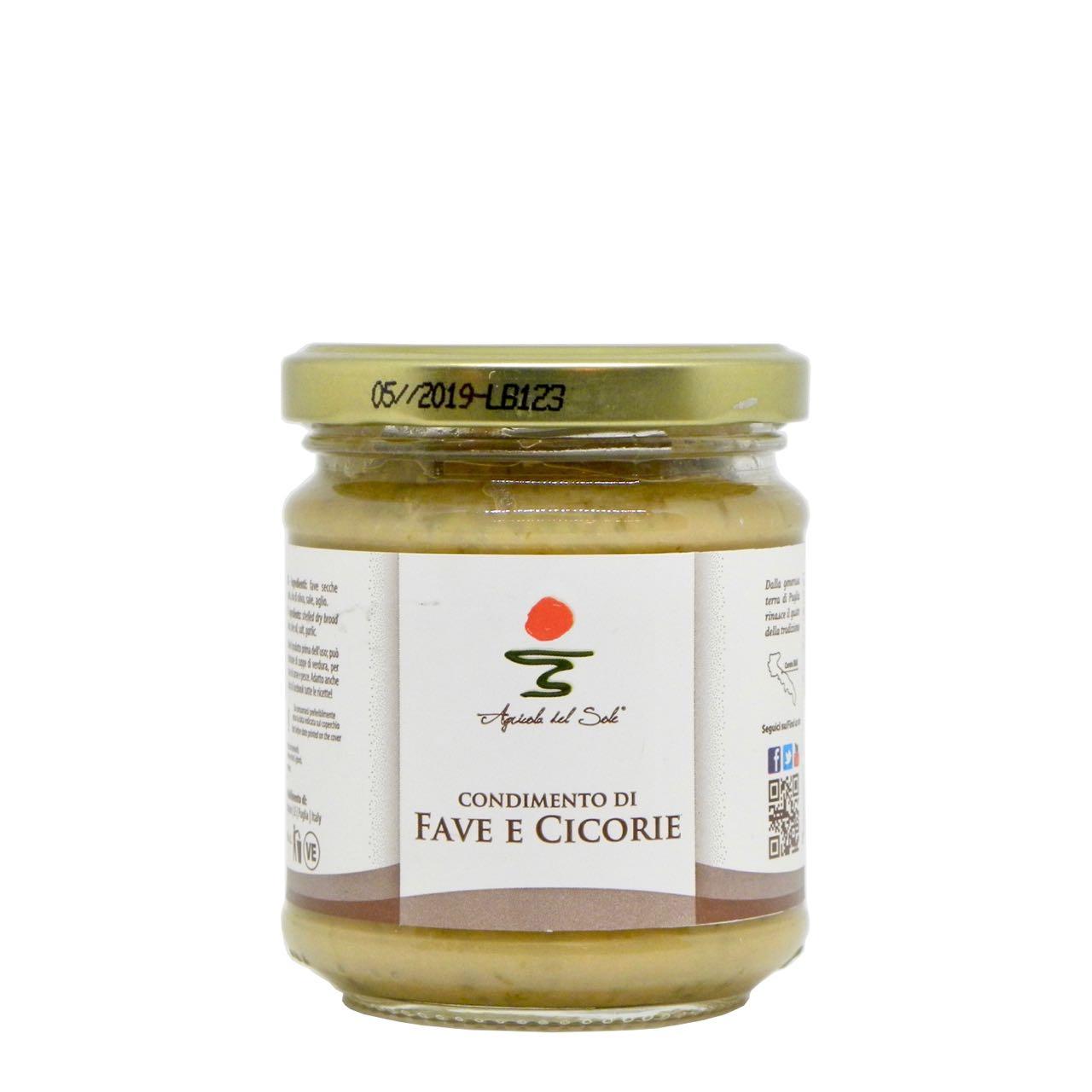 Condimento di fave e cicorie Agricola del Sole – Agricola del Sole broad beans and chicory condiment – Gustorotondo – Italian Food Boutique