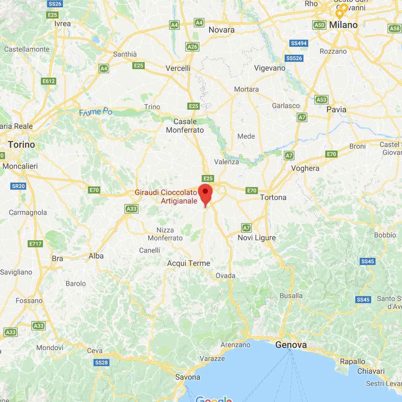 giraudi cioccolato artigianale castellazzo bormida mappa – gustorotondo – italian fine food online – prodotti tipici italiani online