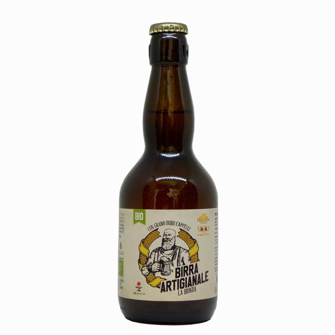 birra bionda artigianale fronte – artisan beer – Agricola del Sole – Gustorotondo Italian food boutique – I migliori cibi online – Best Italian food online – spesa online