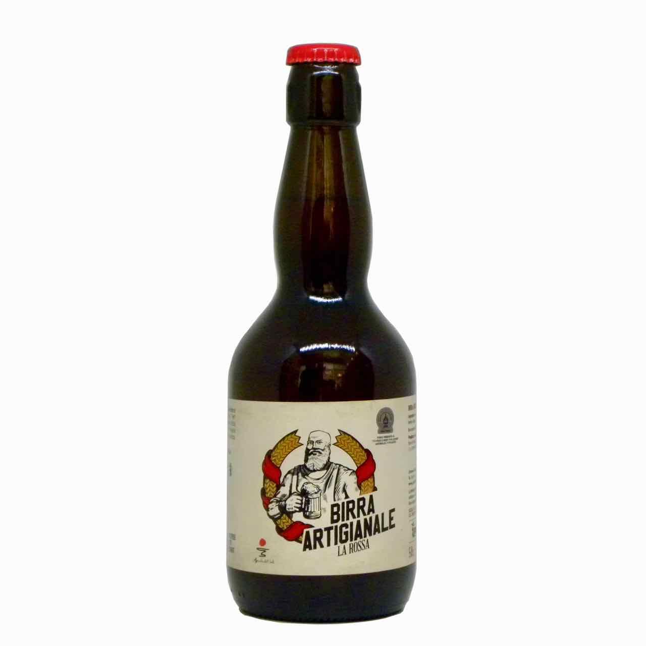 birra rossa artigianale fronte – artisan red beer – Agricola del Sole – Gustorotondo Italian food boutique – I migliori cibi online – Best Italian food online – spesa online