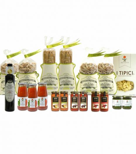 Confezione dispensa pasta integrale - Pantry italian wholewheat pasta - Gustorotondo Italian food boutique - I migliori cibi online - Best Italian foods online - spesa online