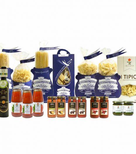 Confezione dispensa pasta classica - Pantry Cavalieri Pasta Sauces EVO Oil - Gustorotondo Italian food boutique - I migliori cibi online - Best Italian foods online - spesa online