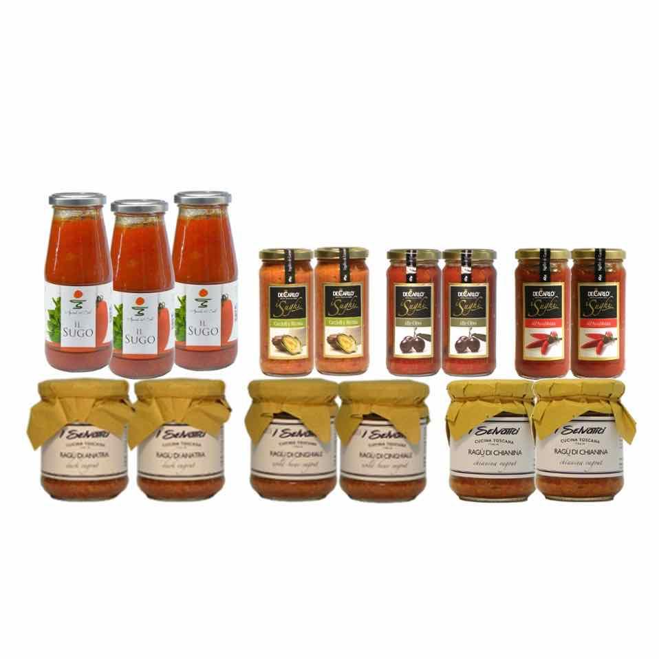 Ragu e sughi – pasta sauces and ragu – Gustorotondo Italian food boutique – I migliori cibi online – Best Italian foods online – spesa online