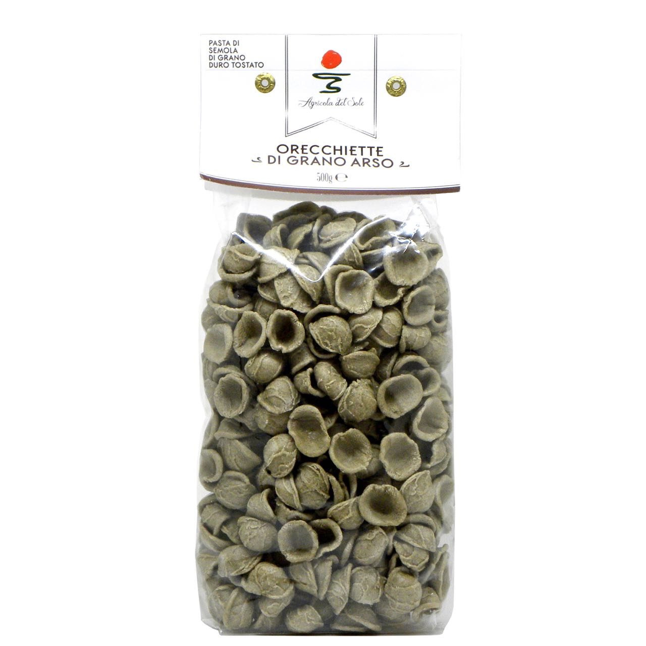 Orecchiette di grano arso Agricola del Sole – burned wheat orecchiette pasta – Gustorotondo Italian food boutique – I migliori cibi online – Best Italian foods online – spesa online