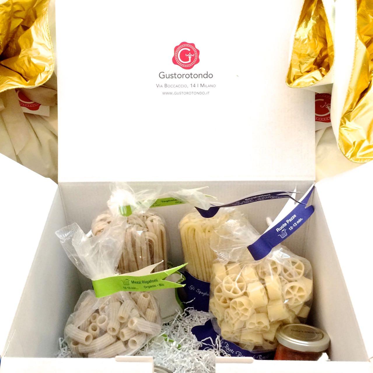 Confezione regalo Gustorotondo apertura esempio – Gustorotondo Gift Box opening example – Confezione regalo Gustorotondo – Gustorotondo Italian food boutique – I migliori cibi online – Best Italian foods online – spesa online