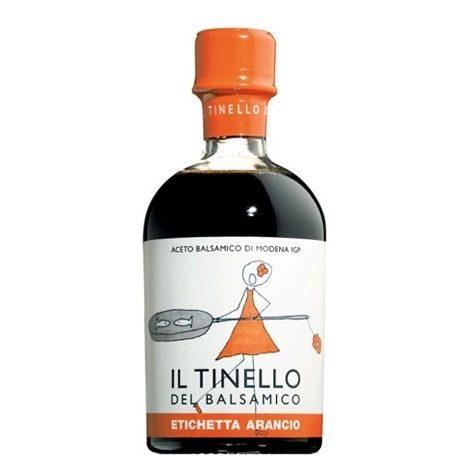Aceto Balsamico IGP di Modena Il Tinello etichetta arancio - IGP Balsamic vinegar of Modena Il Tinello orange label - Gustorotondo Italian food boutique - I migliori cibi online - Best Italian foods online - spesa online