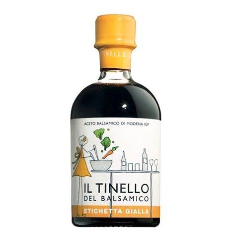 Aceto Balsamico IGP di Modena Il Tinello etichetta gialla - IGP Balsamic vinegar of Modena Il Tinello yellow label - Gustorotondo Italian food boutique - I migliori cibi online - Best Italian foods online - spesa online