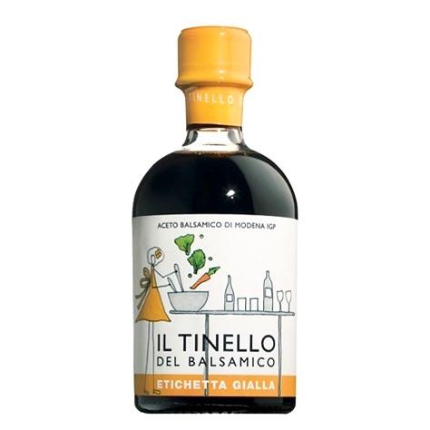 Aceto Balsamico IGP di Modena Il Tinello etichetta gialla – IGP Balsamic vinegar of Modena Il Tinello yellow label – Gustorotondo Italian food boutique – I migliori cibi online – Best Italian foods online – spesa online