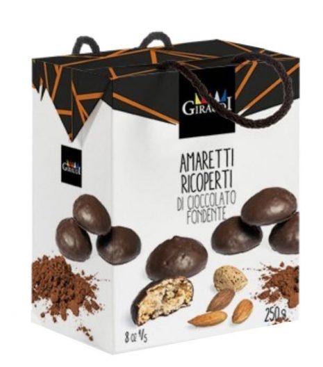 Amaretti ricoperti di cioccolato Giraudi - Giraudi's Chocolate Covered Amaretti - Gustorotondo Italian food boutique - I migliori cibi online - Best Italian foods online - spesa online