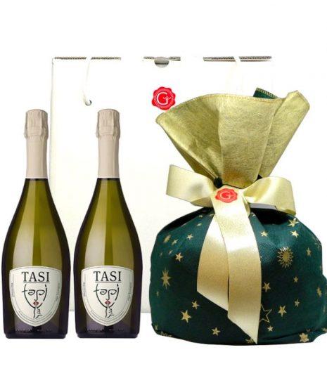 Confezione regalo Natale classico doppio 2018 - Gustorotondo Italian food boutique - I migliori cibi online - Best Italian foods online - spesa online
