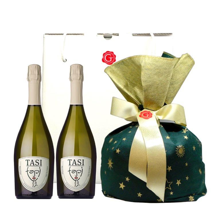 Confezione regalo Natale classico doppio 2018 – Gustorotondo Italian food boutique – I migliori cibi online – Best Italian foods online – spesa online