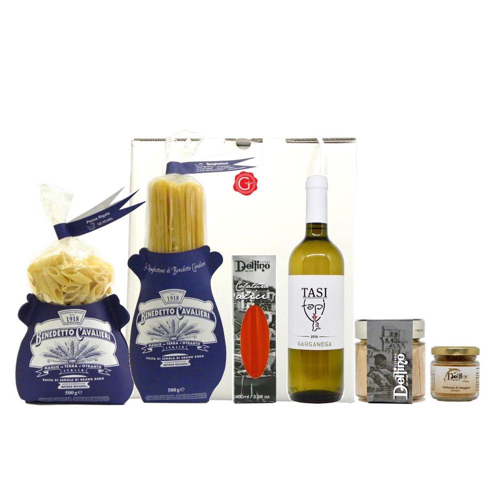 Confezione regalo delizie del Mediterraneo – Mediterranean delis gift box – Gustorotondo Italian food boutique – I migliori cibi online – Best Italian foods online – spesa online