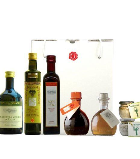 Confezione regalo i condimenti - seasoning gift box - Gustorotondo Italian food boutique - I migliori cibi online - Best Italian foods online - spesa online