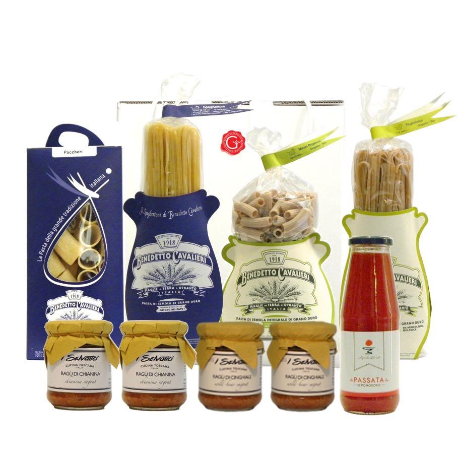 confezione regalo pasta passione – passion for pasta gift box – Gustorotondo Italian food boutique – I migliori cibi online – Best Italian foods online – spesa online