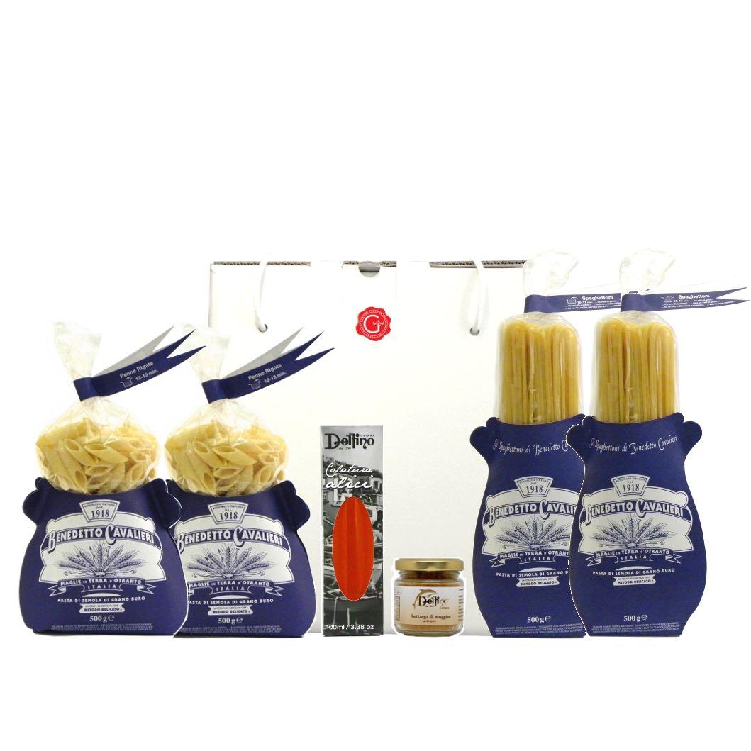 Confezione regalo sapori di mare – flavors of the sea gift box – Gustorotondo Italian food boutique – I migliori cibi online – Best Italian foods online – spesa online