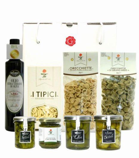 Confezione regalo sapori di Puglia - Apulian flavors gift box - Gustorotondo Italian food boutique - I migliori cibi online - Best Italian foods online - spesa online