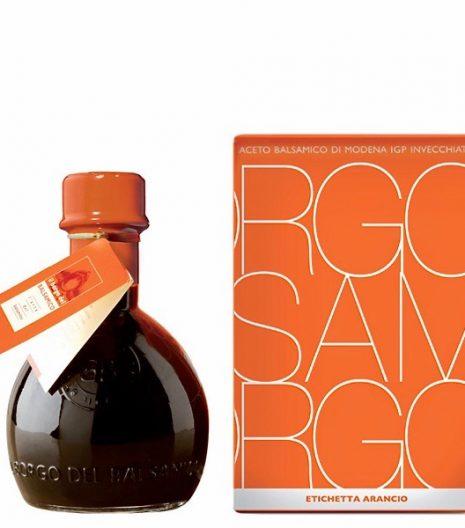 Aceto Balsamico di Modena IGP Il Borgo del Balsamico etichetta arancio - IGP Balsamic vinegar of Modena Il Borgo del Balsamico orange label - Gustorotondo Italian food boutique - I migliori cibi online - Best Italian foods online - spesa online