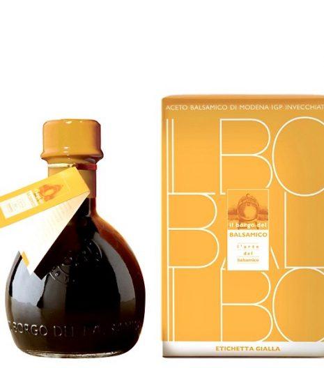 Aceto Balsamico di Modena IGP Il Borgo del Balsamico etichetta gialla - IGP Balsamic vinegar of Modena Il Borgo del Balsamico yellow label - Gustorotondo Italian food boutique - I migliori cibi online - Best Italian foods online - spesa online