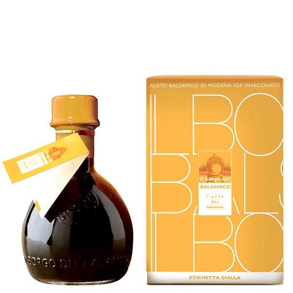 Aceto Balsamico di Modena IGP Il Borgo del Balsamico etichetta gialla – IGP Balsamic vinegar of Modena Il Borgo del Balsamico yellow label – Gustorotondo Italian food boutique – I migliori cibi online – Best Italian foods online – spesa online