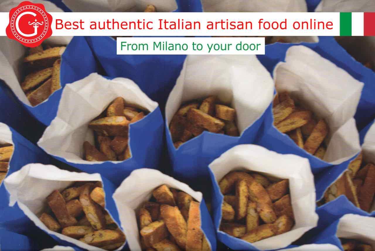 Biscotti di Prato - Italian almond Biscuits - Italian Biscuits - Gustorotondo - Gustorotondo.it online shop - vendita online dei migliori cibi artigianali - best authentic Italian artisan food online