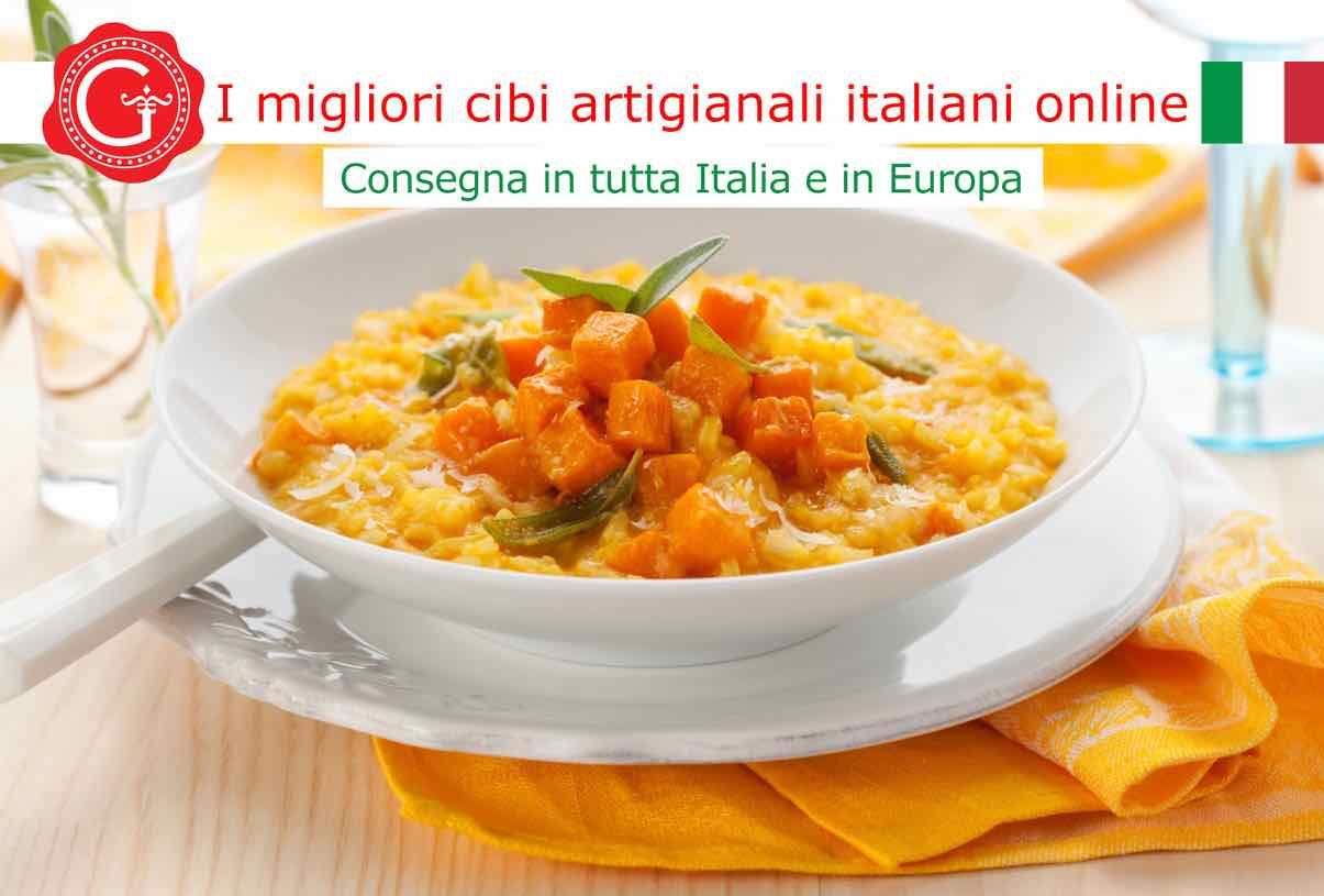 risotto alla zucca - Gustorotondo - Gustorotondo online shop - i migliori cibi online - vendita online dei migliori cibi italiani artigianali - best authentic Italian artisan food online