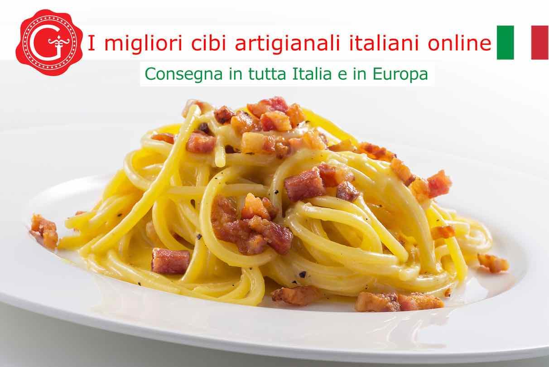 Spaghetti alla Carbonara - Gustorotondo - Gustorotondo online shop - i migliori cibi online - vendita online dei migliori cibi italiani artigianali - best authentic Italian artisan food online