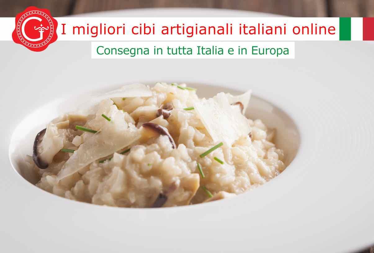 risotto ai funghi porcini secchi - Gustorotondo online shop - i migliori cibi online - vendita online dei migliori cibi italiani artigianali - best authentic Italian food online