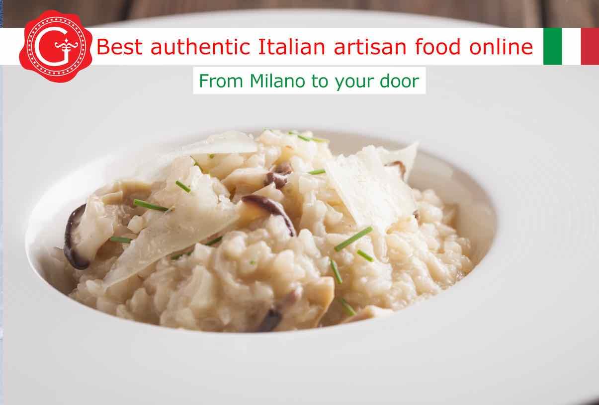 dried mushroom risotto - Gustorotondo online shop - i migliori cibi online - vendita online dei migliori cibi italiani artigianali - best authentic Italian artisan food online