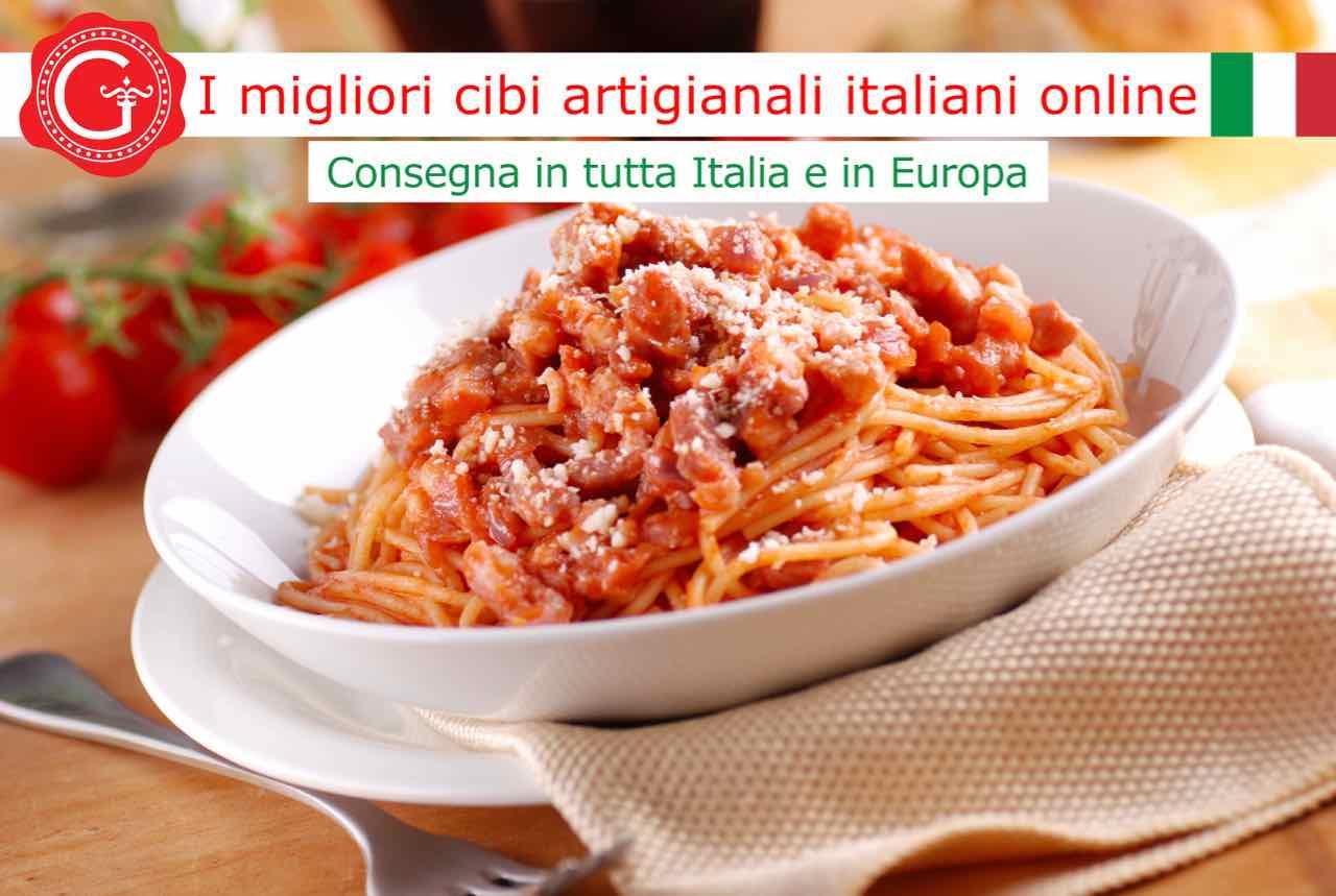 pasta all'amatriciana - ricetta - Gustorotondo online shop - i migliori cibi online - vendita online dei migliori cibi italiani artigianali - best authentic Italian food online