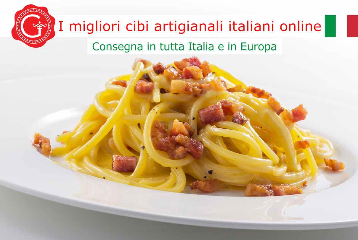 pasta alla carbonara - Gustorotondo online shop - i migliori cibi online - vendita online dei migliori cibi italiani artigianali - best authentic Italian food online