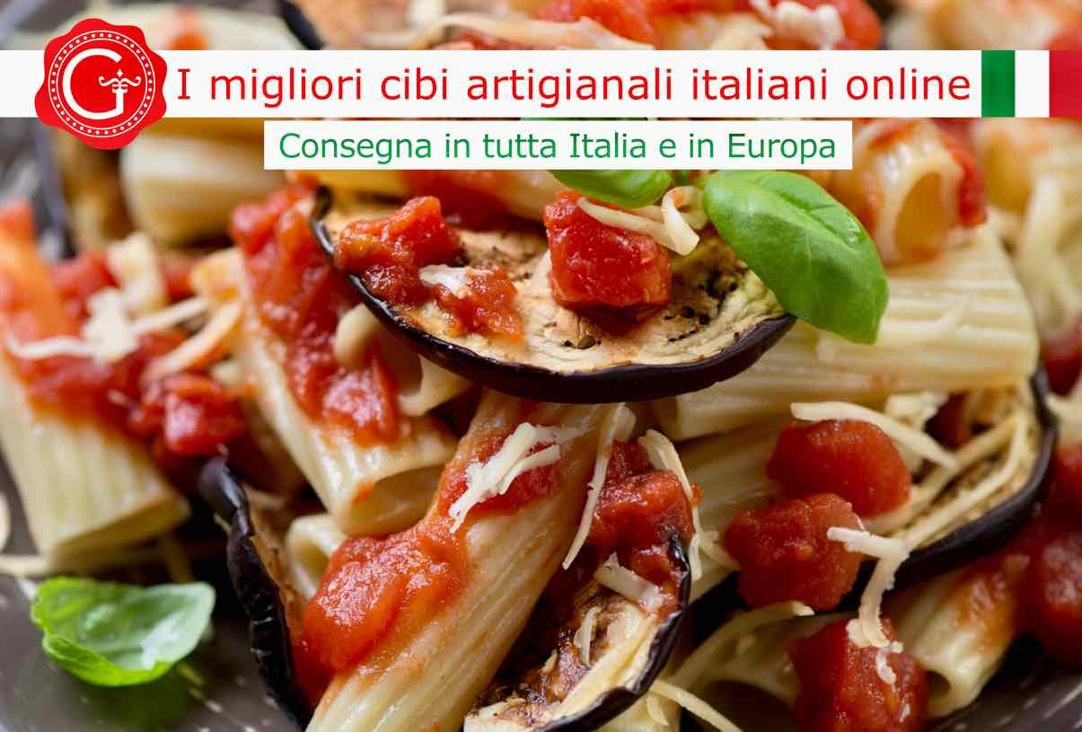 pasta alla Norma - Gustorotondo online shop - i migliori cibi online - vendita online dei migliori cibi italiani artigianali - best authentic Italian food online