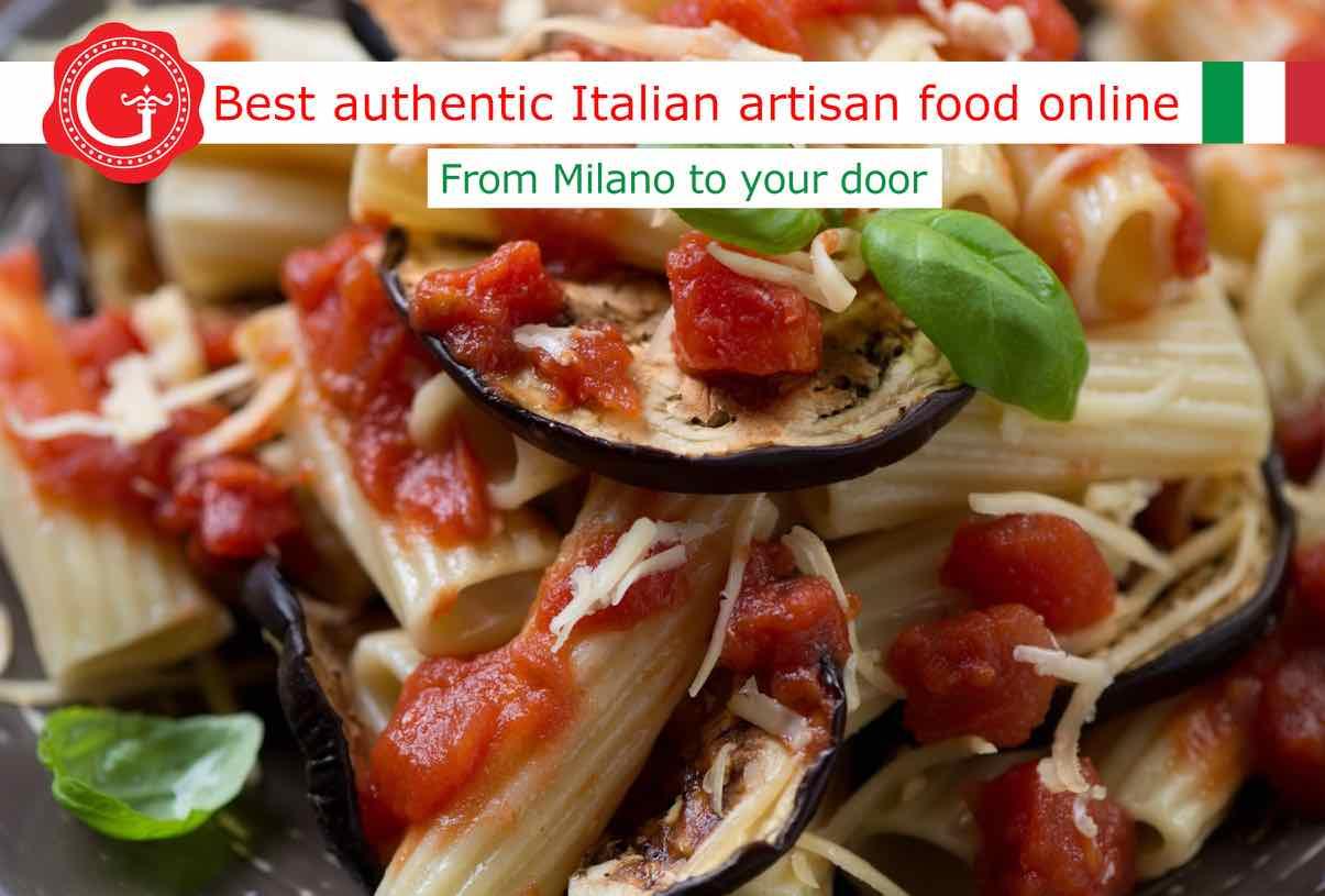pasta alla norma - Gustorotondo online shop - i migliori cibi online - vendita online dei migliori cibi italiani artigianali - best authentic Italian artisan food online
