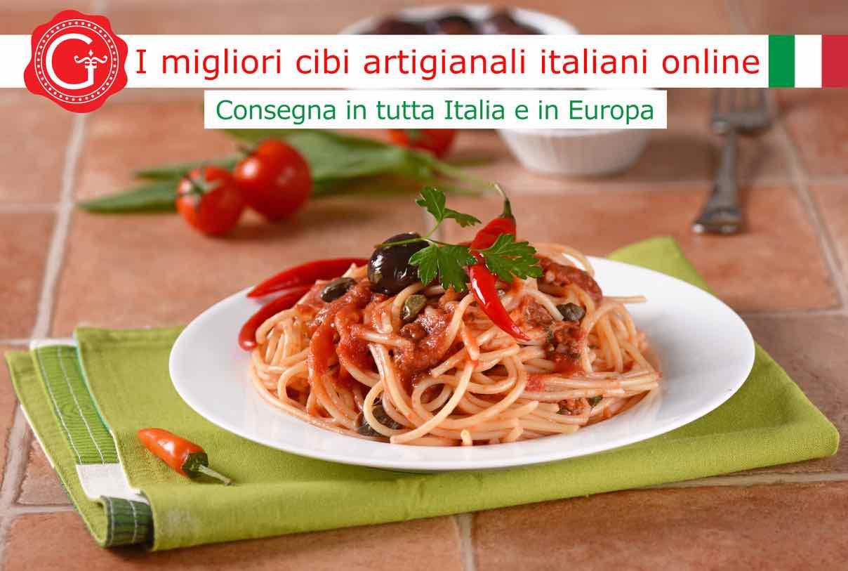 pasta alla puttanesca - Gustorotondo online shop - i migliori cibi online - vendita online dei migliori cibi italiani artigianali - best authentic Italian food online