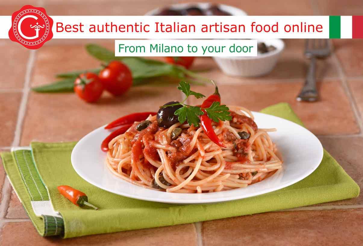 pasta puttanesca - Gustorotondo online shop - i migliori cibi online - vendita online dei migliori cibi italiani artigianali - best authentic Italian artisan food online