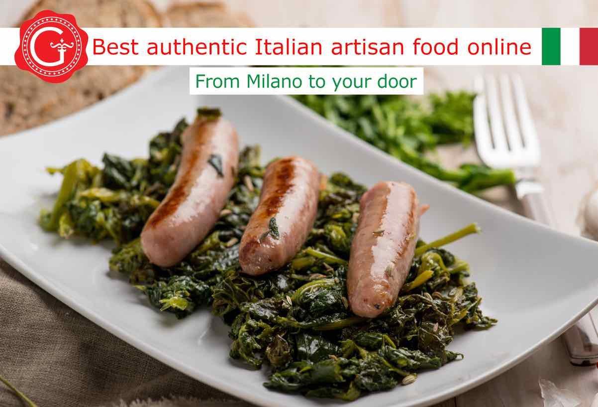 broccoli rabe and sausage - Gustorotondo online shop - i migliori cibi online - vendita online dei migliori cibi italiani artigianali - best authentic Italian artisan food online