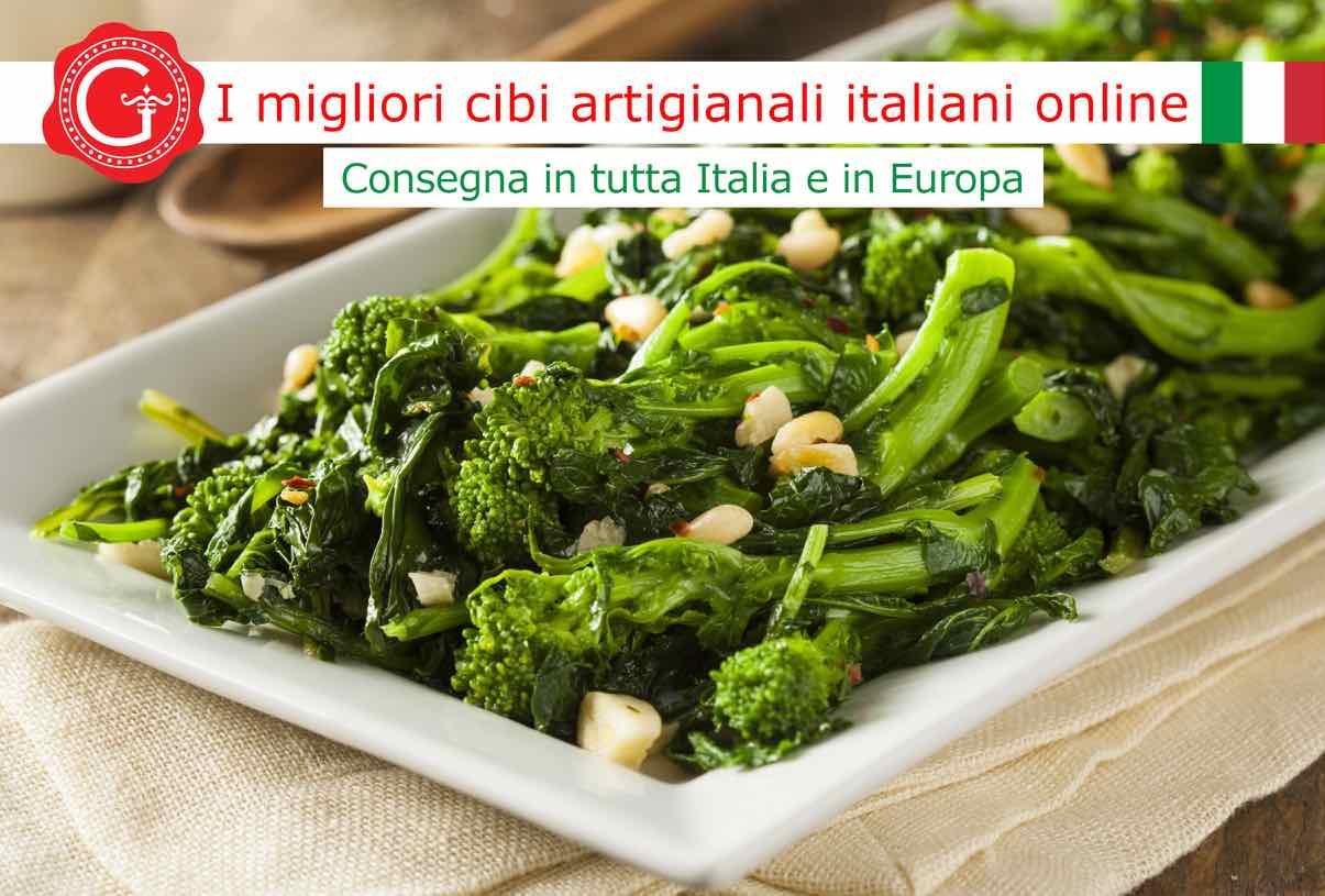 cime di rapa in padella - Gustorotondo online shop - i migliori cibi online - vendita online dei migliori cibi italiani artigianali - best authentic Italian food online