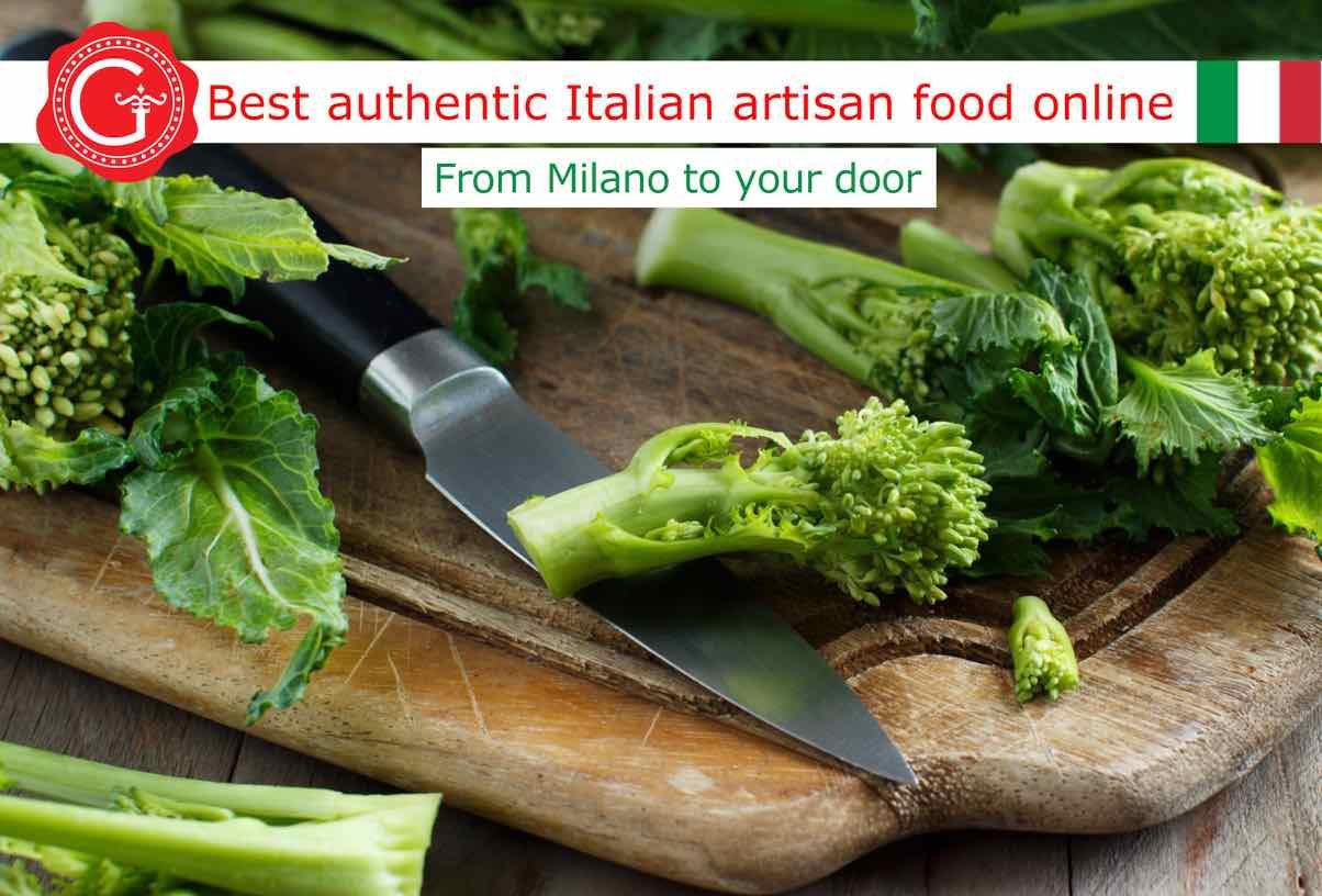 how to trim broccoli rabe - Gustorotondo online shop - i migliori cibi online - vendita online dei migliori cibi italiani artigianali - best authentic Italian artisan food online