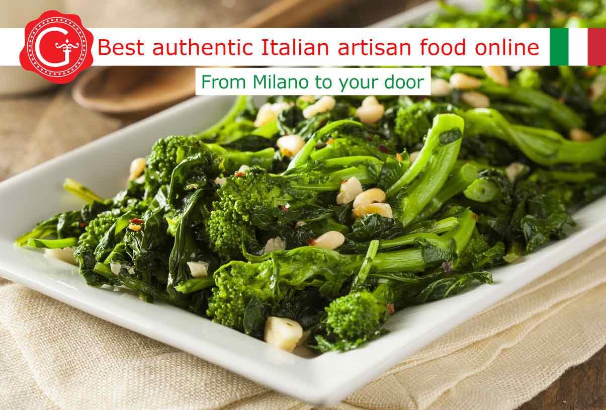 sauteed broccoli rabe - Gustorotondo online shop - i migliori cibi online - vendita online dei migliori cibi italiani artigianali - best authentic Italian artisan food online