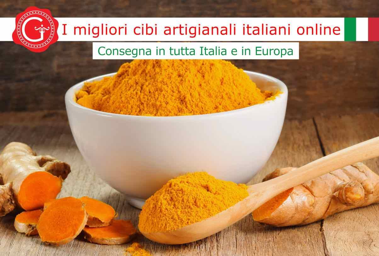 curcuma proprietà - Gustorotondo online shop - i migliori cibi online - vendita online dei migliori cibi italiani artigianali