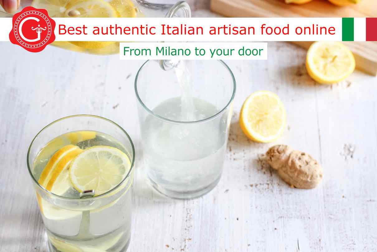 ginger and lemon water - best Italian food - Gustorotondo online food shop - authentic Italian artisan food online