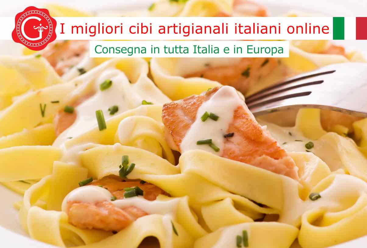pasta al salmone - Gustorotondo online shop - i migliori cibi online - vendita online dei migliori cibi italiani artigianali - best authentic Italian artisan food online