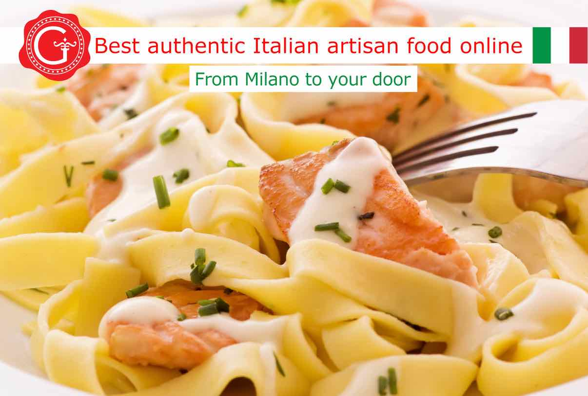 pasta with salmon - best Italian food - Gustorotondo online food shop - authentic Italian artisan food online