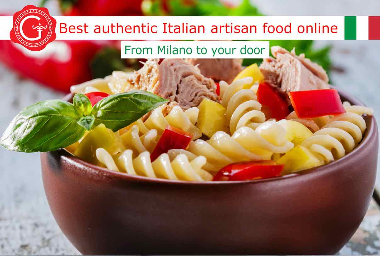 cold pasta salad - best Italian food - Gustorotondo online food shop - authentic Italian artisan food