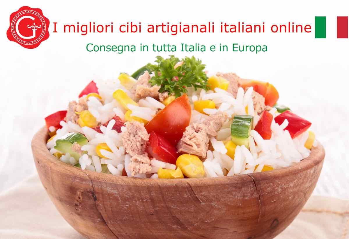 insalata di riso ricetta - Gustorotondo online shop - i migliori cibi online - vendita online dei migliori cibi italiani artigianali