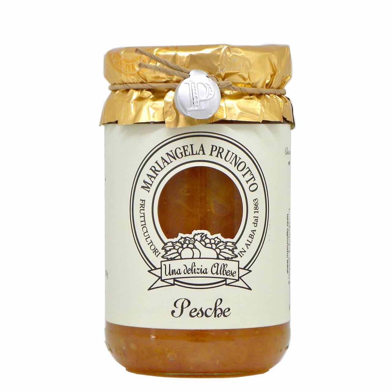 peach preserve with cane sugar – best Italian food – Gustorotondo online food shop – authentic Italian artisan food online