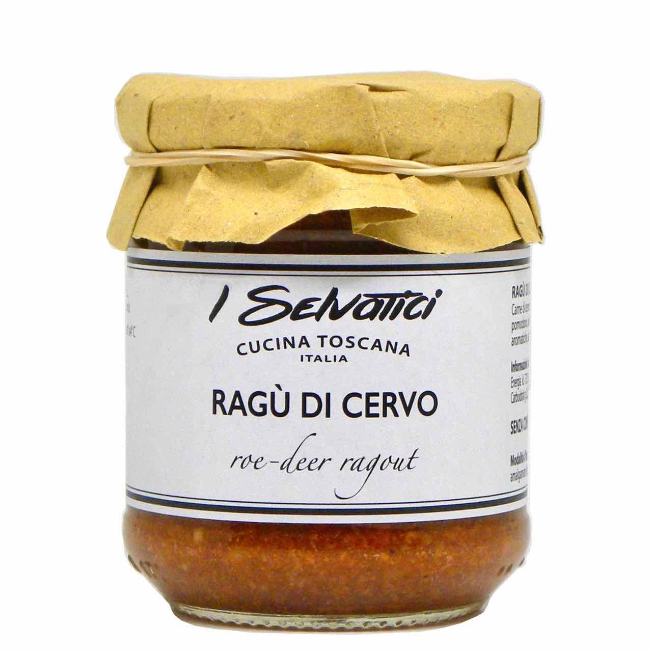 ragù di cervo – I Selvatici – Gustorotondo online shop – i migliori cibi online – vendita online dei migliori cibi italiani artigianali